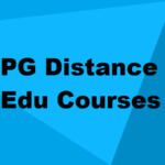 PG Distance Education Courses After Graduation